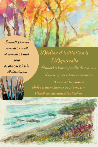 Atelier d'initiation à l'Aquarelle